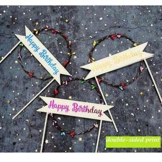 "Cake Deco - ""Happy Birthday"" LED Lights - 3 different modes"