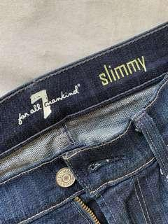 7 for all mankind Slimmy Jeans men's size 30