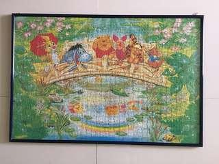 Winnie the Pooh Puzzle Picture with Frame