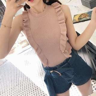 [NEW] DUSTY PINK KNITTED TOP