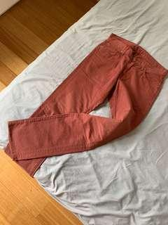 7 for all mankind men's slimmy dark red jeans size 30