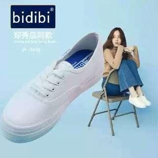 🚚 鄭秀晶同款小白鞋 38號
