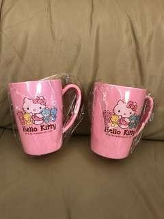 全新 kitty KT小熊漱口杯 塑膠杯 正版 三麗鷗授權 雷射標籤