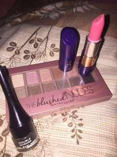 Set MakeUp Lipstik, Eyeliner, Eyeshadow