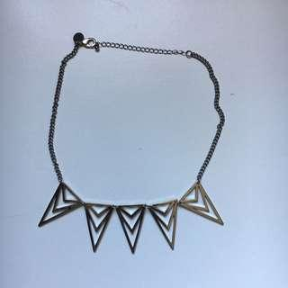 Silver Geometric Necklace