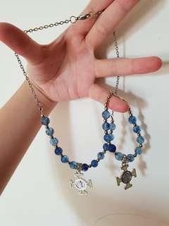 1 set kalung dan gelang salib