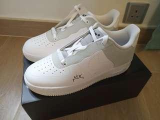全新Nike Air Force 1 07/ACW US7.5 A COLD WALL shoe 波鞋 白色 white