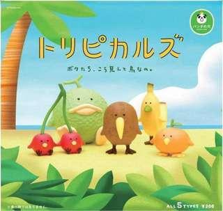 🚚 《現貨》熱帶 水果鳥 扭蛋 奇異果*2