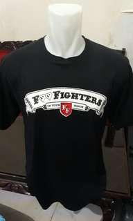 Jual kaos band foo fighters made in thailand