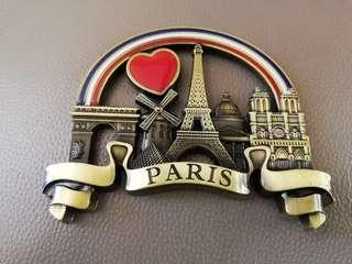 Paris Fridge Magnet and Eiffel Tower Keyring