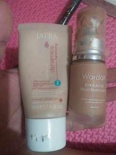 wardah foundation exclusive dan jafra day cream dynamic balancing