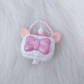 🚚 瑪莉貓 手提包 絕版 迪士尼 收藏 珍藏 擺飾 童年 貓咪 人偶 搭配 配件 可愛 粉紅色 蝴蝶結 女生 夢幻 山口式