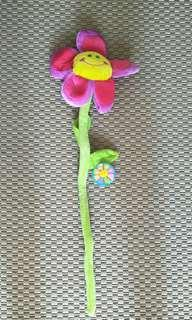 Flexible flower decoration