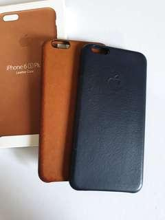 Apple iPhone 6s Plus leather cases - Black & Saddle Brown