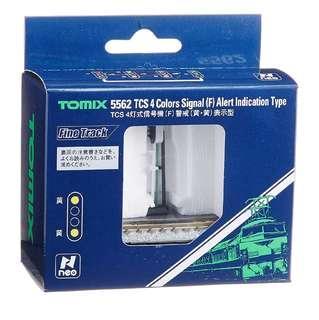 全新 N 比例 TOMIX n TCS 4燈式信号機 F 警戒黄黄表示型 5562 鐵道模型用品 (Not KATO & Tomytec) 1/150