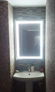 Vanity mirror with built in LED lights