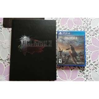 PS4 Final Fantasy XV & The Complete Official Guide Collector's Edition.