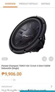 Pioneer speeker 4,999 w/box