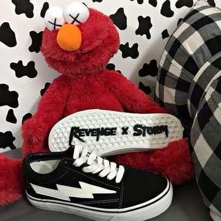 (全新正品需預購)Revenge X Storm火焰純色繫帶閃電 滑板帆布鞋 吳亦凡