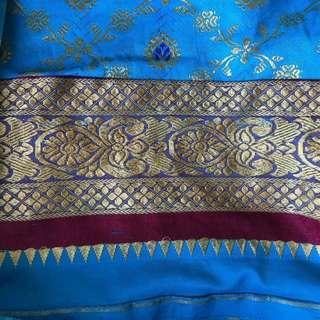 Handmade Indian Throw Blanket Sheet Blue Bohemian Hanging