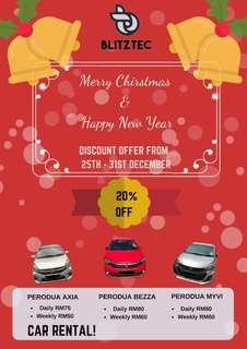 Christmas & New Years Promotion