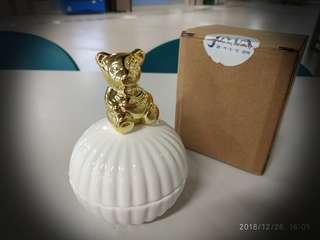 陶瓷熊仔首飾盒 Ceramic Bear Jewellery Box #sellfaster