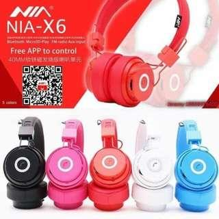 NIA X6 wireless headphone