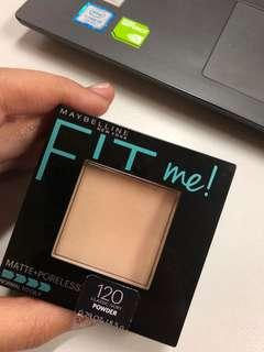 FIT ME matte + poreless pressed powder bedak