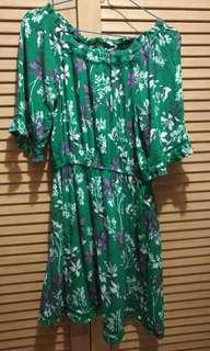 Cotton On Greeny Flowery Dress