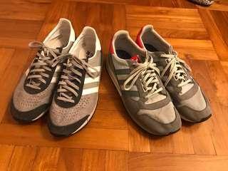 終極$99 兩對 Adidas Used 鞋 山系 灰鞋 Nike off white