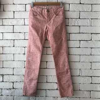 Gap kids pink flower print jeans
