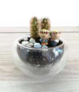 Cactus with lovely couple