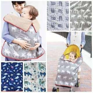 🚚 現貨)嬰幼兒多用途加厚抱毯 防雨防風毯 推車小被子蓋毯