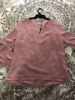 Size small baby pink top