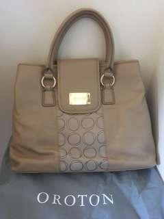 Oroton Leather & Jacquard large tote - BNWTS $545