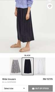 #DEC30 H&M Wide Leg Trouser