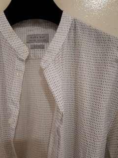 Zara Mandarin Colar Shirt