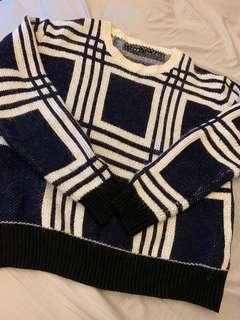 格紋質感毛衣