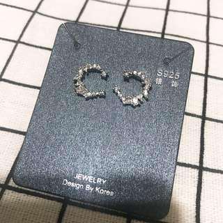 🚚 全新韓製925純銀 星月 月亮耳環