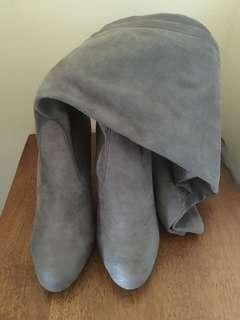 Bardot grey over the knee boots- New