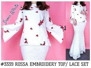 *ROSSA EMBROIDERY TOP/ LACE SET