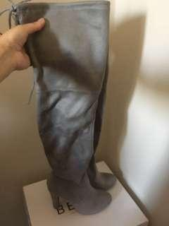 Betts grey over the knee boots - BNIB