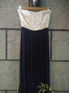 Laced Tube Long Dress