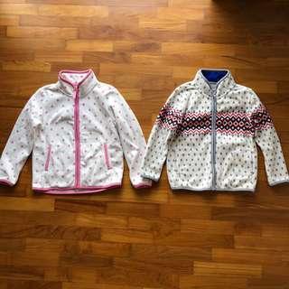 Uniqlo Kids Fleece Full Zip Jacket Boys Girls Winter