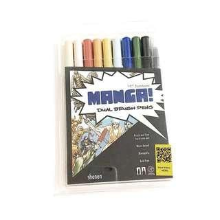 tombow dual brush pens shonen manga palette set of 10