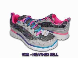 Sepatu Anak SKECHERS VIM HEATHER BELL. Gray Multi. 59116LGYMT. 100% Original