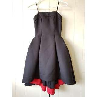Strapless Black Midi/Flare Dress