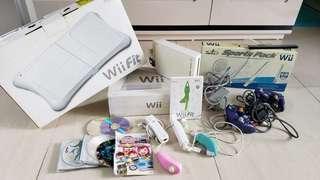 Nintendo Wii Full set w/Wii Fit 正版 (已改Wii Key,可玩HDD)