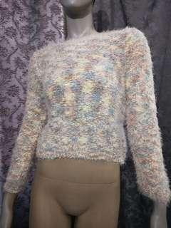 Furry pullover sweater women top