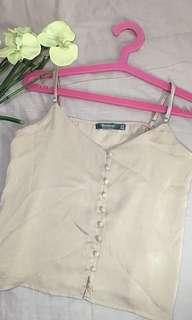 Bershka button top